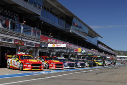 Cars lineup in the pitlane