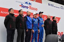 Franz Tost, teambaas Scuderia Toro Rosso, Pierre Gasly en Brendon Hartley, Scuderia Toro Rosso en pe