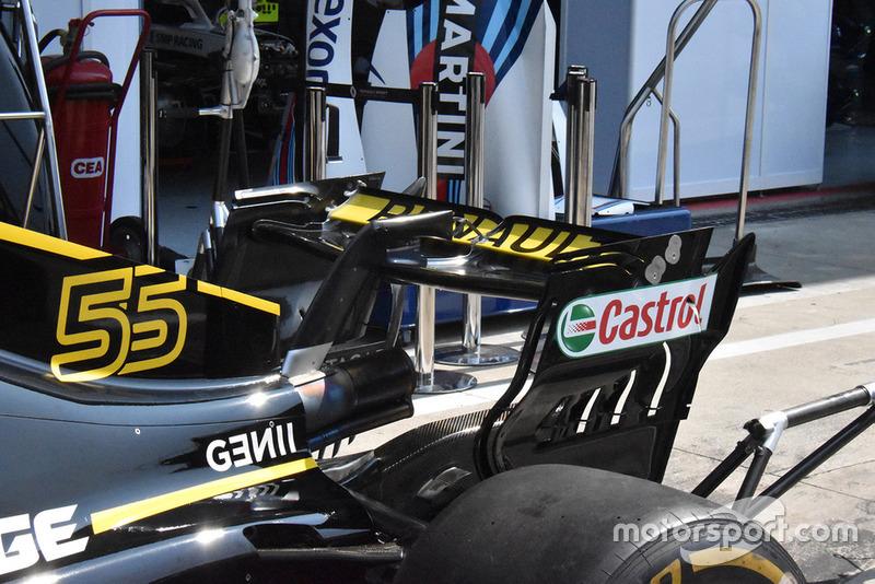 Renault F1, hátsó szárny, részlet, Monza