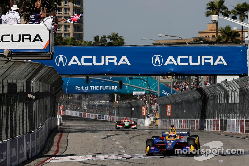 2019, and Alexander Rossi's Andretti Autosport Honda triumphs for the second straight year.