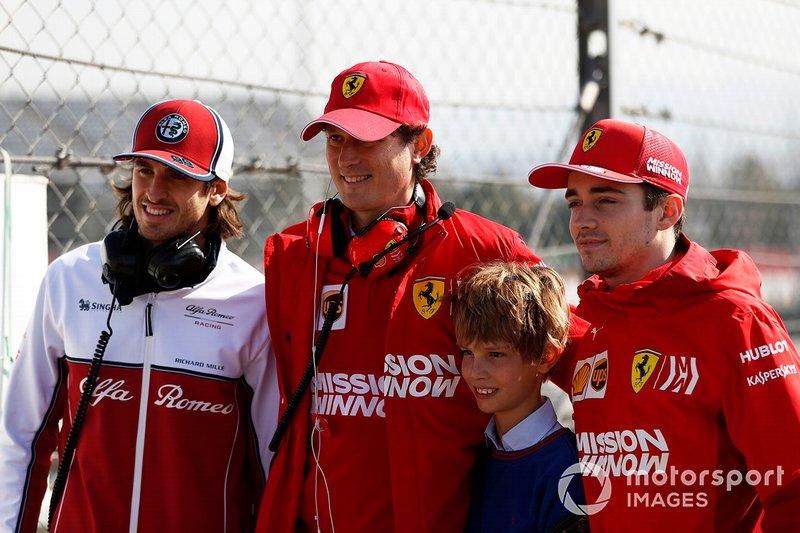 Antonio Giovinazzi, Alfa Romeo Racing, John Elkann, Chairman FIAT, Charles Leclerc, Ferrari