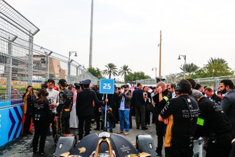 Andre Lotterer, DS TECHEETAH, Jean-Eric Vergne, DS TECHEETAH chat on the grid