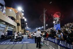 Nico Rosberg, Mercedes AMG F1 Team ganador de la carrera se celebra en parc ferme
