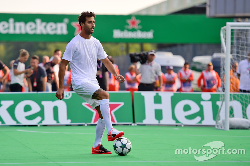 Daniel Ricciardo, Red Bull Racing at the charity 5-a-side football match