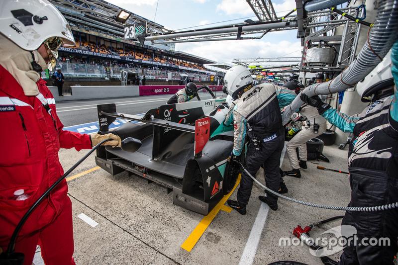Pit stop #23 Panis Barthez Competition Ligier JS P2 Nissan: Fabien Barthez, Timothé Buret, Paul-Loup Chatin
