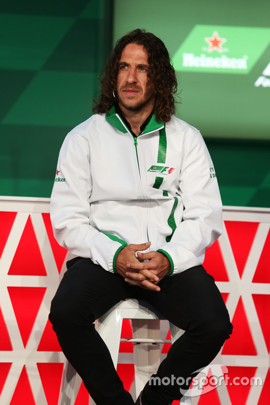 Charles Puyol, Former Football Player, at a Heineken sponsorship announcement