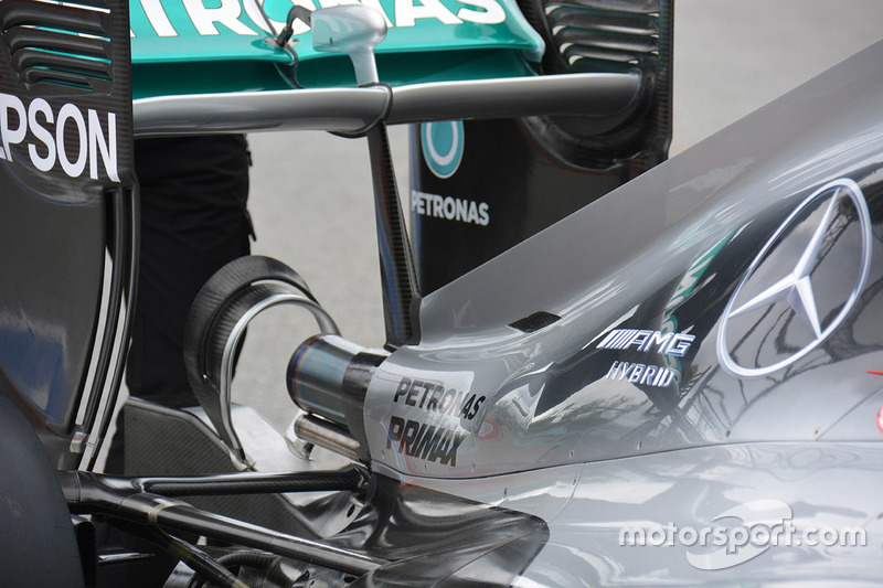 Mercedes AMG F1 W07 rear detail