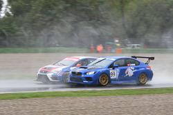 Alessandro Thellung, BF Racing, Seat Leon-TCR in lotta con Stefano Comini, Subaru STI TCR