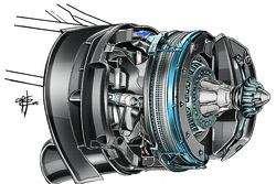 Mercedes W07 nueva solución de frenos