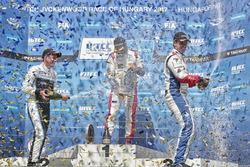 Podium: Race winner Mehdi Bennani, Sébastien Loeb Racing, Citroën C-Elysée WTCC, second place Nicky Catsburg, Polestar Cyan Racing, Volvo S60 Polestar TC1, third place Tom Chilton, Sébastien Loeb Racing, Citroën C-Elysée WTCC