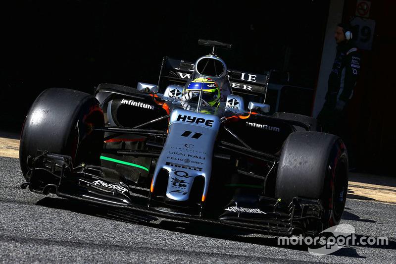 10º Sergio Perez, Force India F1 VJM10, 1m20.116s (ultrablandos)