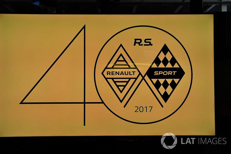 Logo perayaan 40 tahun Renault F1