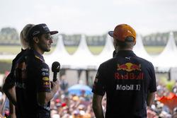 Daniel Ricciardo, Red Bull Racing, Max Verstappen, Red Bull, on the F1 stage