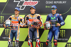 Podyum: Yarışın galibi Marc Marquez, Repsol Honda Team, ikinci Dani Pedrosa, Repsol Honda Team, üçüncü Maverick Viñales, Yamaha Factory Racing