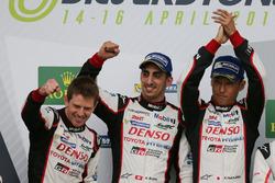 Podium: #8 Toyota Gazoo Racing Toyota TS050 Hybrid: Anthony Davidson, Sébastien Buemi, Kazuki Nakaji