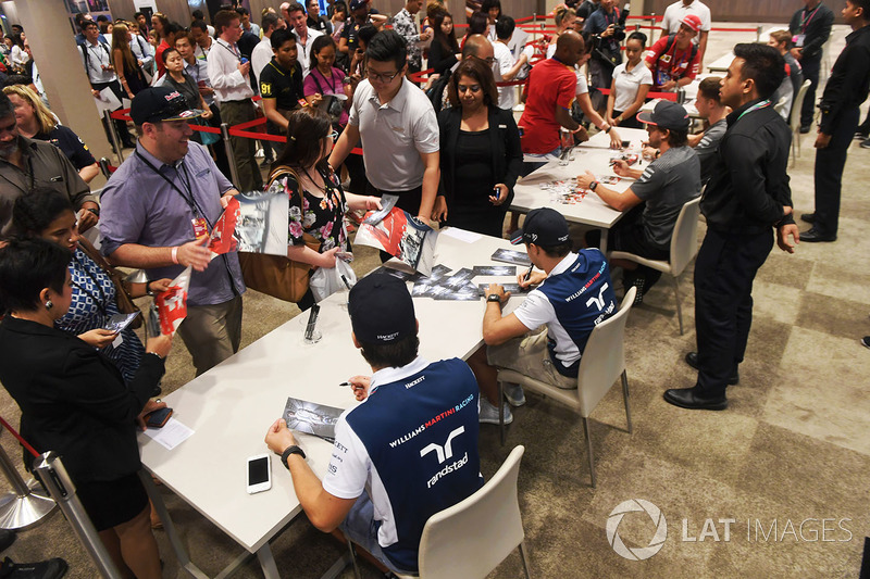 Lance Stroll, Williams and Felipe Massa, Williams