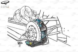 Arrows A21 rear brake caliper