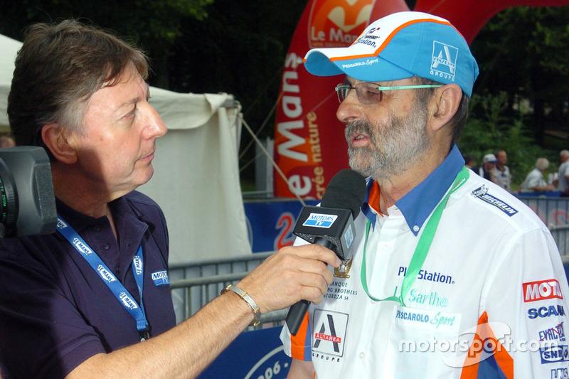 Henri Pescarolo interviewed by Jean-Luc Roy of Motors TV
