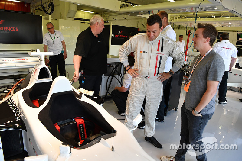 F1 Experiences 2-Seater passengers Will Buxton, NBC TV Presenter and Frankie Muniz, Actor