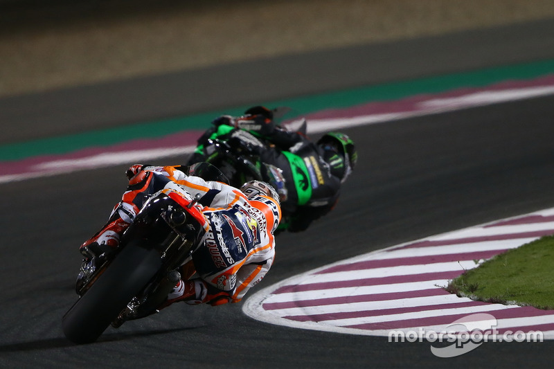 Johann Zarco, Monster Yamaha Tech 3; Marc Marquez, Repsol Honda Team