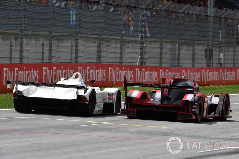 Gerhard Berger, BMW V12 LMR and Tom Kristensen, Audi R18