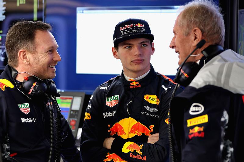 Max Verstappen, Red Bull Racing, Christian Horner, Dr. Helmut Marko