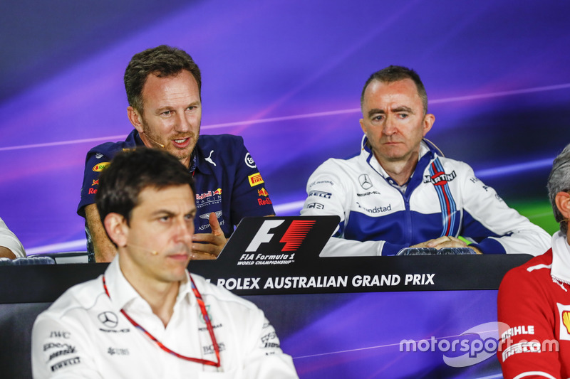 Pressekonferenz: Toto Wolff, Mercedes; Christian Horner, Red Bull Racing; Paddy Lowe, Williams