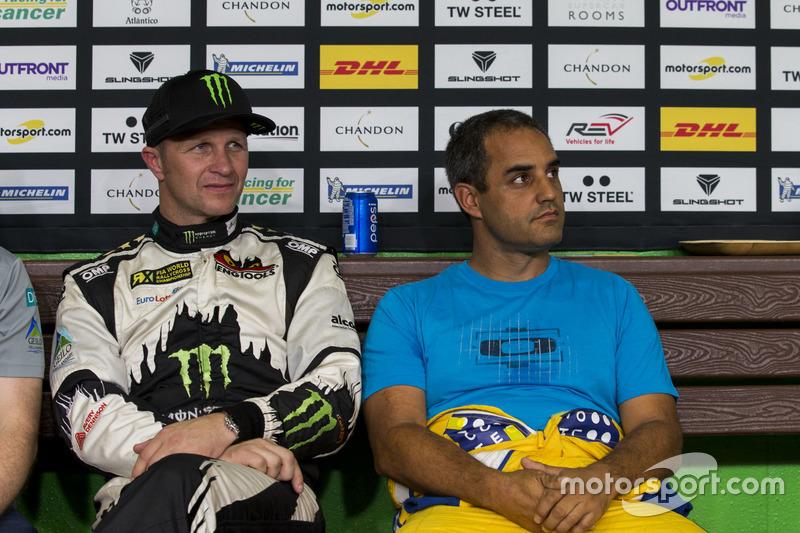 Petter Solberg y Juan Pablo Montoya