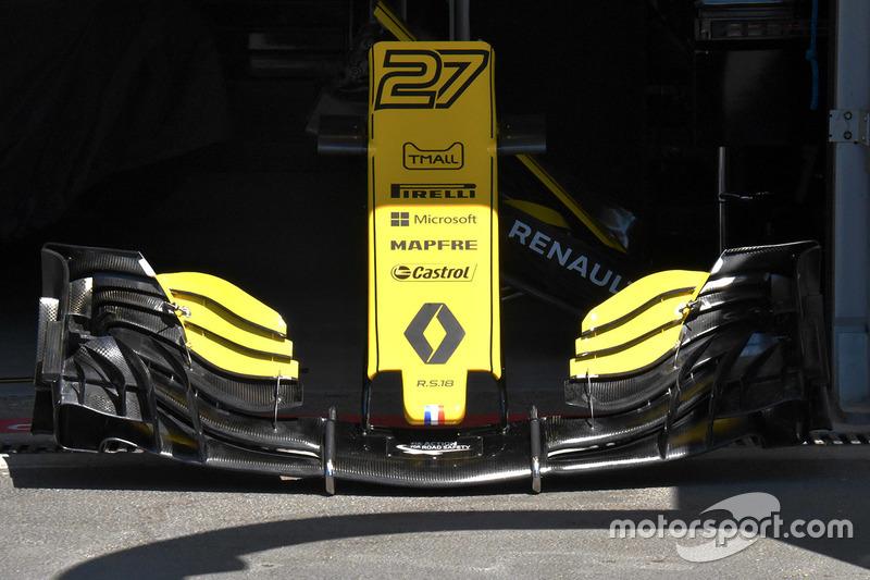 Detail hidung dan sayap depan Renault Sport F1 Team R.S. 18