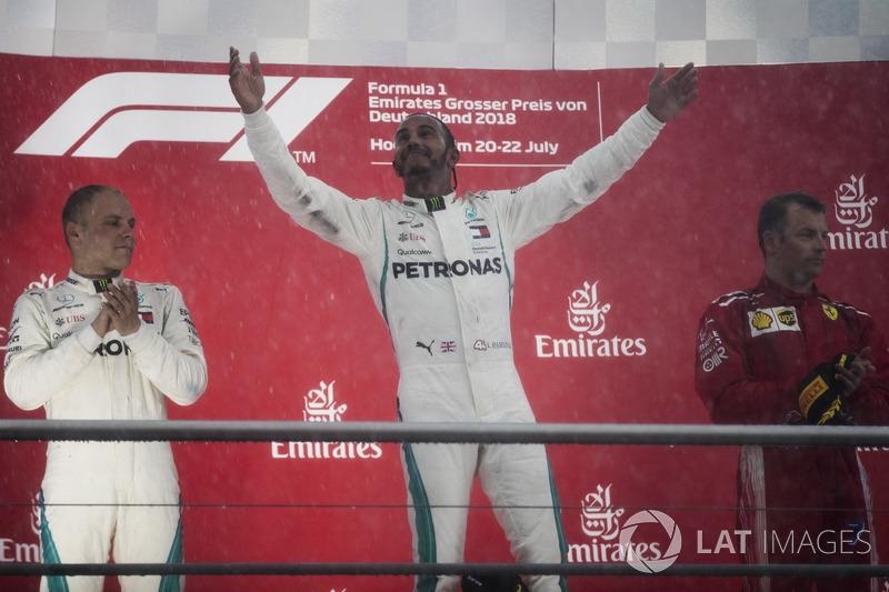 Allemagne - Podium : Lewis Hamilton, Valtteri Bottas, Kimi Räikkönen