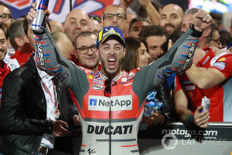 Mas Andrea Dovizioso conseguiu uma grande vitória, abrindo a temporada com estilo.