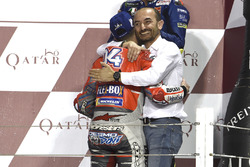 Claudio Domenicali, Ducati Team, winner Andrea Dovizioso, Ducati Team