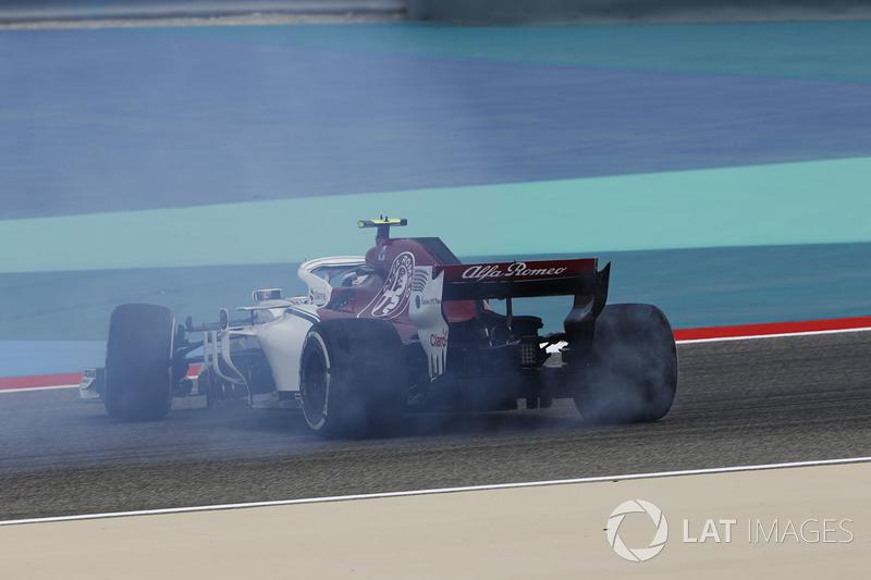 Charles Leclerc, Sauber C37 en tête-à-queue