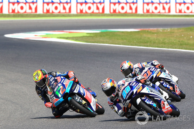 Marco Bezzecchi, Prustel GP, Jorge Martin, Del Conca Gresini Racing Moto3, Fabio Di Giannantonio, Del Conca Gresini Racing Moto3