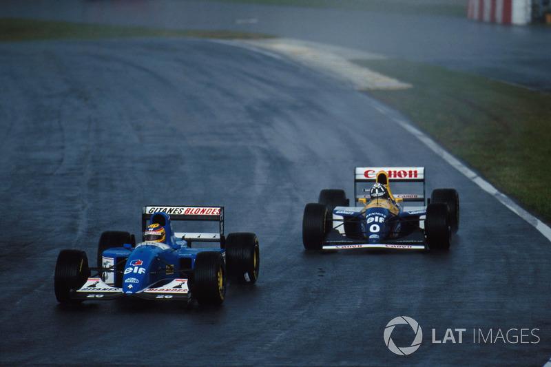 Mark Blundell, Ligier JS39 ve Damon Hill, Williams FW 15C
