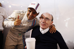 Felipe Massa, Williams F1, celebra su pole position con Sir Frank Williams, director de Williams F1