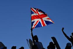Lewis Hamilton, Mercedes AMG F1 fans and union flag