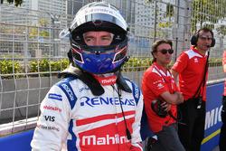 Nick Heidfeld, Mahindra Racing, on the grid