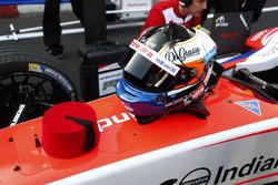 EL casco de Felix Rosenqvist, Mahindra Racing