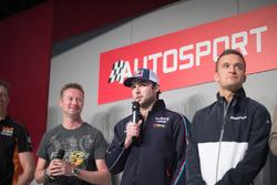 BTCC Champions Matt Neal, Gordon Shedden, Andrew Jordan and Colin Turkington on the Autosport Stage with Henry Hope-Frost