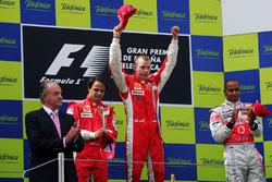 Podium: 1. Kimi Raikkonen, Ferrari; 2. Felipe Massa, Ferrari; 3. Lewis Hamilton,Mclaren