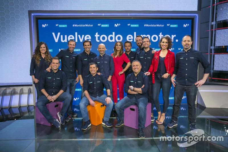 El equipo de F1 de Movistar +