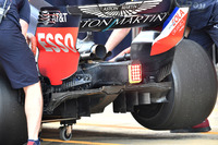 Red Bull Racing RB14 rear diffuser detail
