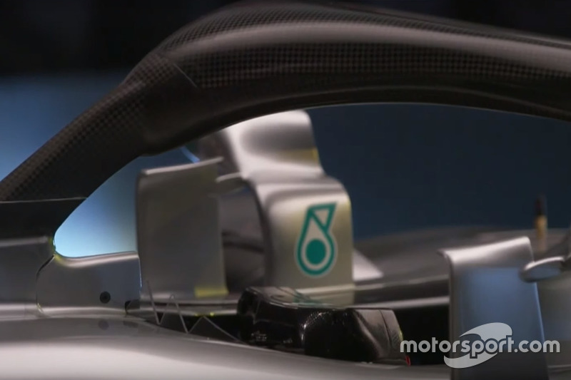 Mercedes AMG F1 W09 halo detail