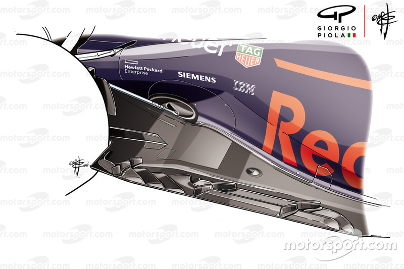 Vloer Red Bull Racing RB14 - GP van Mexico