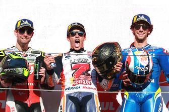 Podium: race winner Marc Marquez, Repsol Honda Team, second place Cal Crutchlow, Team LCR Honda, third place Alex Rins, Team Suzuki MotoGP