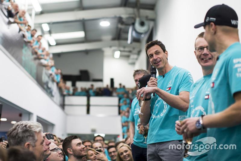 Toto Wolff, Mercedes AMG F1 World Championship celebration