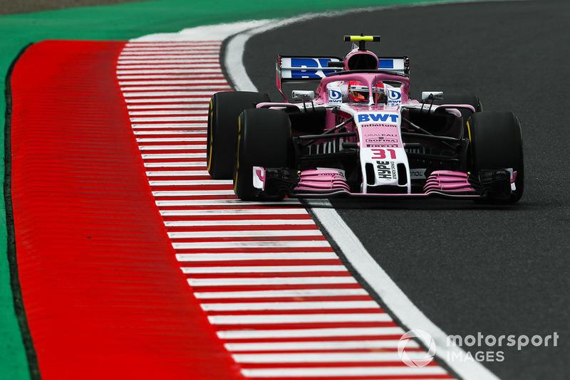 8 місце — Естебан Окон, Force India. Умовний бал — 12,25