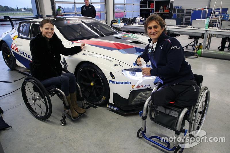 Натали Макглойн, глава Комиссии ограниченных возможностей FIA, и Алекс Дзанарди, BMW M8 GTE