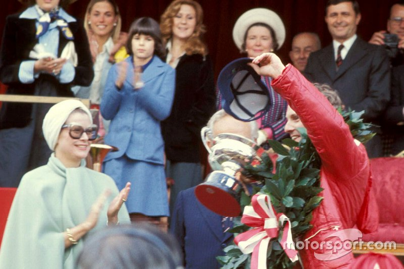 HSH Princess Grace and Niki Lauda, 1st position, on the podium